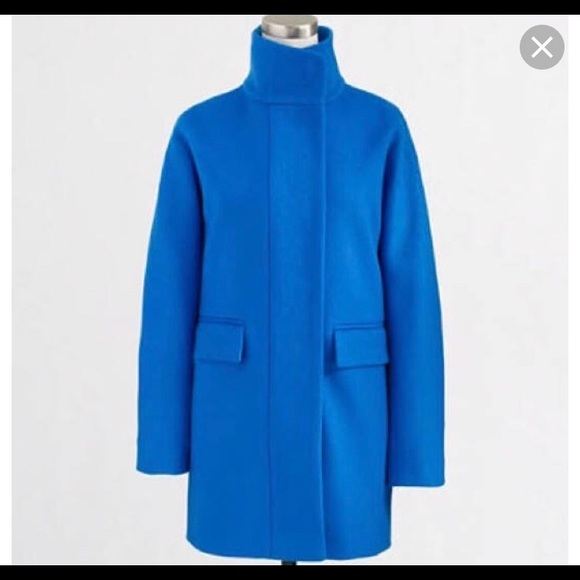45ac6f170 J. Crew Jackets   Blazers - J. Crew Wool bright blue cocoon coat.